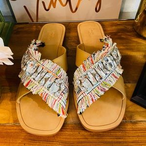 Boutique Style - Bohemian Sandals With Rhinestone